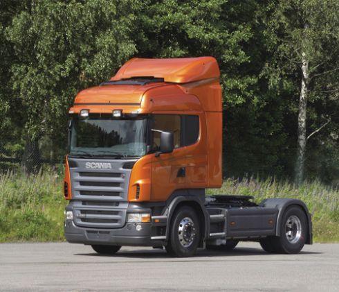 Tractora scania naranja